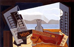 La Fenetre Ouverte by Juan Gris A1 High Quality Canvas Print