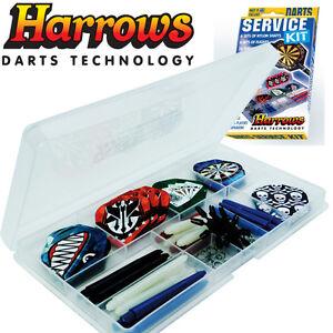 Harrows Darts Service Kit - Case - Flights - Shafts Stems - Protectors