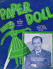 1943 - Bing Crosby - Paper Doll - Great Cover!