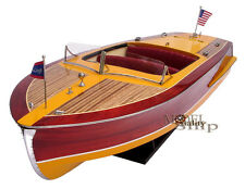 Handcrafted Chris Craft Riviera Display Model Boat