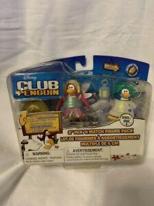 Disney Club Penguin 2'' Mix 'N Match Figure Pack - Rad Scientist and Fairy Faery