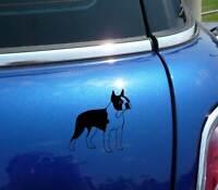 Detailed Boston Terrier Dog Graphic Decal Sticker Car Vinyl