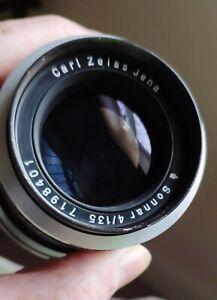 Carl Zeiss Jenna Sonnar 135/4 lens in Exakta Mount.