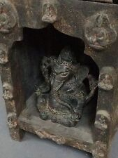 ANTIQUE/VINTAGE INDIAN. LARGE, SACRED OPEN BUDDHA SHRINE / ALTAR. KATHMANDU.