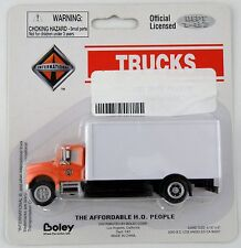 1:87 Scale International 2-Axle Drywall Box Van - Orange & White - Boley #4002