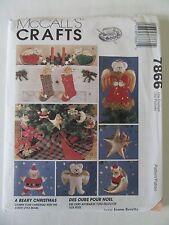 McCalls Crafts Sewing Pattern 7866 Santa Bear*Angel*Christmas Tree Top*Ornaments
