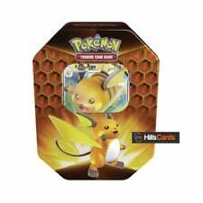 Pokemon Hidden Fates Tin Raichu GX New & Sealed | Inc Booster Packs & Promo
