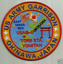 US ARMY GARRISON PATCH, OKINAWA, JAPAN, TORII STA. YOMITAN                     Y