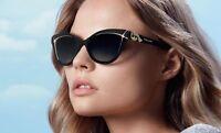 RARE Genuine BVLGARI DIVAS DREAM Black White Cat-Eye Sunglasses BV 8156B  53878G 8d3b50a0725