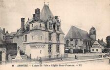 AMBOISE - L' Hotel de ville et l' église St Florentin