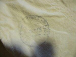 pantalon N°10 ancien coton écru caleçon militaire armée marine? TAMPON