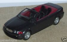 MICRO HERPA HO 1/86 1/87 BMW SERIE 3 CABRIOLET ABIERTO NEGRO METAL