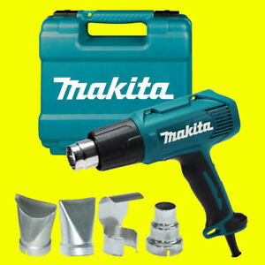 Makita HG5030K Heavy Duty 1300W Heat Hot Air Gun & Accessory 240V Carry Case