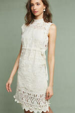 $168 ANTHROPOLOGIE Orla Lace Dress new with tag size ivory color Small
