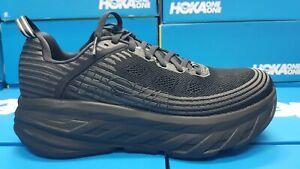 NEW Hoka One One Bondi 6 Wide (2E) 1019271 BBLC Black Running Shoes For Men's