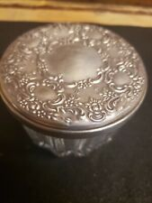 Sterling silver powder jar