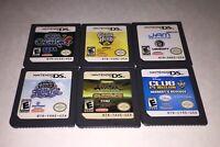 Nintendo DS Lot of 6 Games Sega Casino Guitar Hero On Tour Club Penguin Herberts