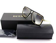 New Authentic DITA WESTBOUND Aviator Matte Black Gold Grey Sunglasses 19015-A