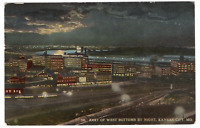 Vintage Postcard Part of West Bottoms By Night Kansas City  Missouri