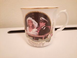 Vintage Mayfair Pottery Wedding Duke And Duchess Of York Commerative Cup 1986.