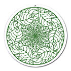 Fenster Glas Bild Nr. 53. Mandala 5. grün Ø 10cm Licht Fänger keltisches Symbol