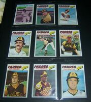 1977 TOPPS SAN DIEGO PADRES TEAM SET 27 CARDS EX-NM WINFIELD FINGERS JONES
