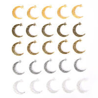 10Pcs/Set Antique Alloy Moon Charms Pendant Jewelry Findings DIY Craft Making Fy