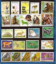 3 GUINEA Animales salvajes / de compañía: Perros,monos,hipopotames,cebras 277T1