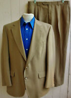 JOS A BANK Mens Tan Two-Button Single-Vented Two-Piece Suit 42R 36x29