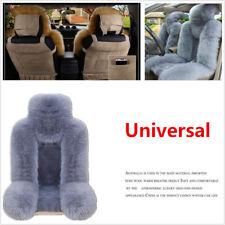 Pair Genuine Australian Sheepskin Fur Car Front Seat Protector Cover Winter Grey