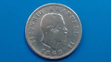 MONETE D'ARGENTO ITALIA D'Italia 1 LIRA 1863 MILANO valore NC VITT. EMANUELE II