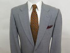 Hickey Freeman Neiman Marcus Pure Wool Gray Blazer Jacket Sport Coat 42 R USA