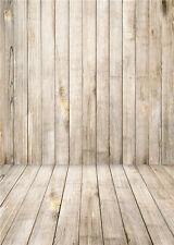 Baby Background Photo Studio Vinyl Wooden Floor Photography Backdrops 5x7FT QX02