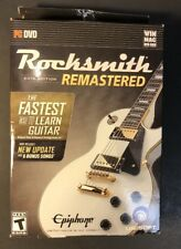 Rocksmith 2014 Edition Remastered W/ Real Tone Cable (PC / DVD) NEW