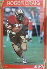 RARE ROGER CRAIG SF  49ERS 1987 VINTAGE ORIGINAL NFL STARLINE POSTER