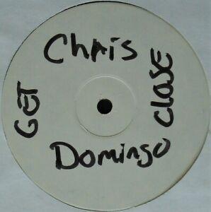 """CHRIS DOMINGO """"GET CLOSER"""" VINYL 12"""" WHITE LABEL 2 TRACKS BREAKBEAT ~RARE~ HTF"""