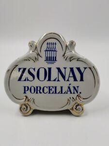 Porzellan Werbung ZSOLNAY Porcelan XL, ,14 x 24cm cm