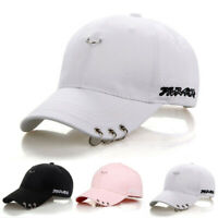 Adjustable Baseball Cap With Rings Travel Ring Trucker Hat Women Men Sun Cap