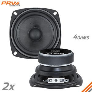 "2x PRV Audio 4MR60-4 Midrange Loudspeakers Car Audio Speakers 4"" 4 Ohm 120Watts"