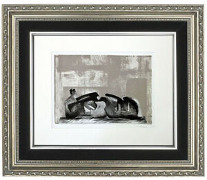 """Original Henry Moore 'Composition II"""" Lithograph, Modernist, Hand Signed"""