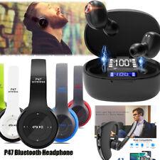 Bluetooth V5.0 Headset Wireless Headphone Super Bass Earbuds Foldable Earphones