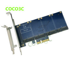 4 mSATA SSD PCI Express Controller Card Marvell HyperDuo PCIe flash  Solution