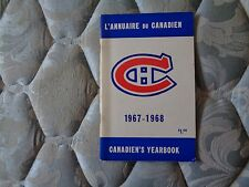 1967-68 MONTREAL CANADIENS MEDIA GUIDE YEARBOOK 1968 NHL CHAMPS!! Press Book AD