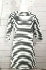 Sage + Honey dress stripped fitted gray white size small Womens