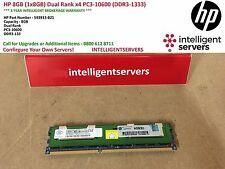 HP 8GB (1x8GB) Dual Rank x4 PC3-10600 (DDR3-1333) ** 593913-B21 **