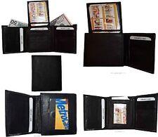 Men's Wallet Center piece Trifold Men's 2 billfold 1 Exterior 2 ID 9 card wallet