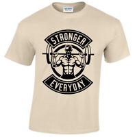 Plus Fort Tous les Jours Hommes T Shirt S-5XL Haltérophilie Gym Musculation