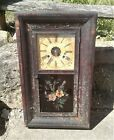 Antique E  N  Welch Forestville Brass and Wood 30 Hr Wall Clock Parts Ogee Style