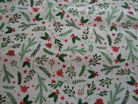 "1 BOLT 45/"" PATRICK LOSE WINTER WONDERLAND BRIGHT CHRISTMAS WHITE FABRIC 15 YARDS"