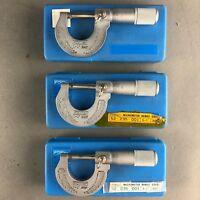 """(1) Fowler Micrometer  52-235-001 Range 0-1"""" Gradu .0001"""""""